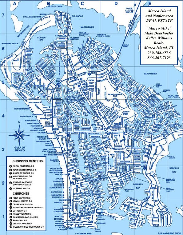 Marco Island Florida Map Mike Doerhoefer REALTOR